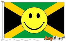 - JAMAICA SMILEY FACE ANYFLAG RANGE - VARIOUS SIZES